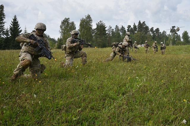 Soldiers, Firearm, Military, Training, Officers