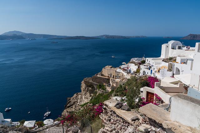 Santorini, Oia, Greece, Landscape, Travel, Summer