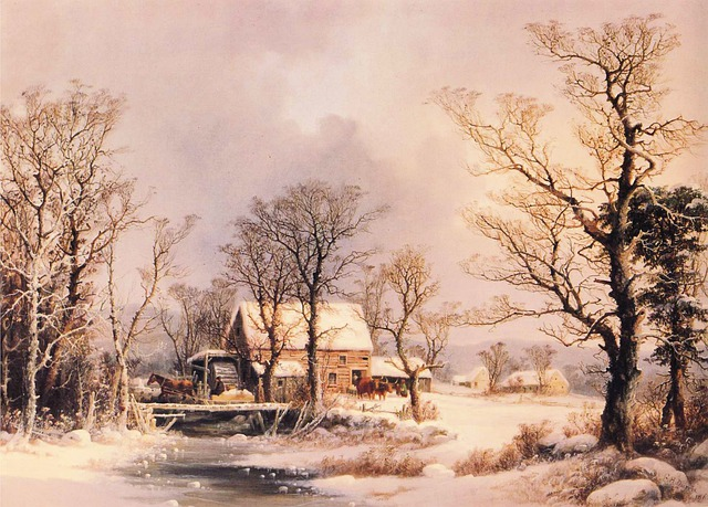 George Durrie, Painting, Oil On Canvas, Art, Artistic