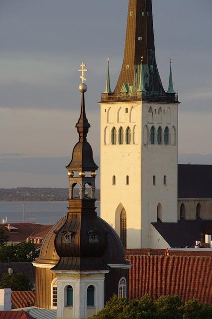 Estonia, Tallinn, Old Town, Olaf Church