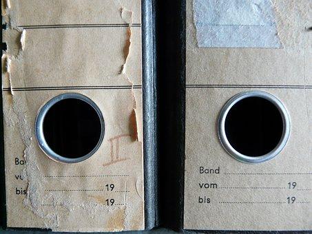 Files, Aktenordner, Old, Office, Regulation