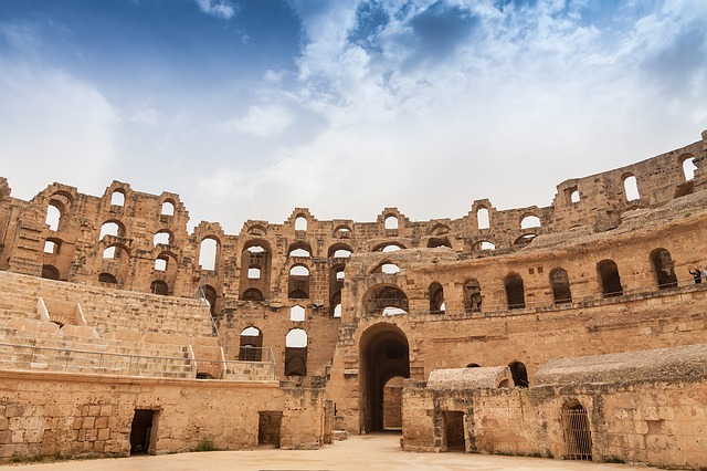 El Jem, El Djem, Tunisia, Architecture, Antiquity, Old