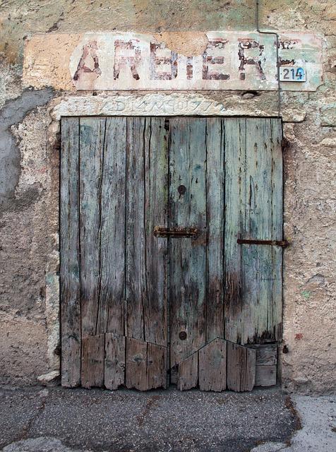 Door, Old, Barber Shop, Old Barber's Shop, Doorway