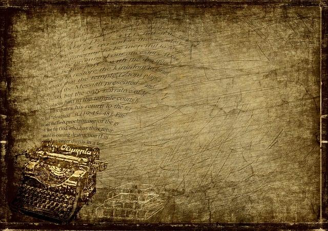 Typewriter, Books, Steampunk, Font, Clock, Drawing, Old