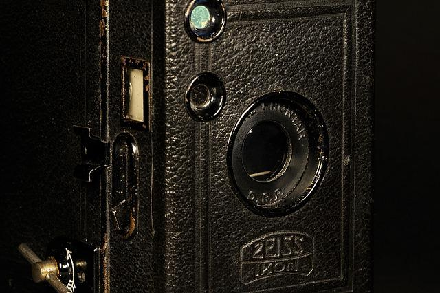 Old, Antique, Zeiss, Ikon, Box Tengor, 1920, Camera