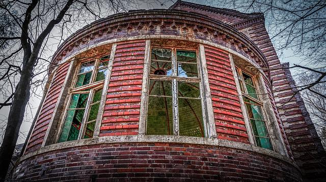 Architecture, Old, Window, Building, Brick, Break Up