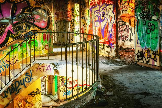 Abandoned Place, Graffiti, Old Building, Forget
