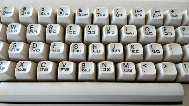 C64, Keyboard, Retro, Old, Machine, Alphabet