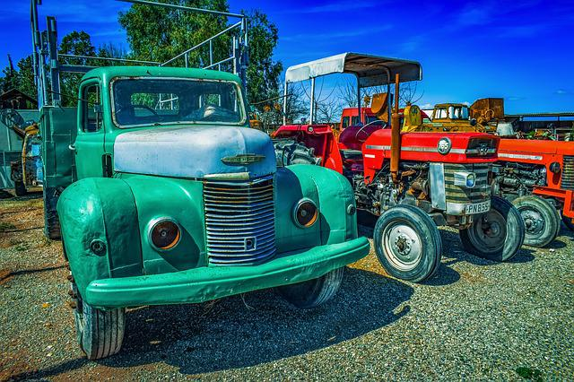 Old Car, Vehicle, Tractor, Machine, Truck, Vintage