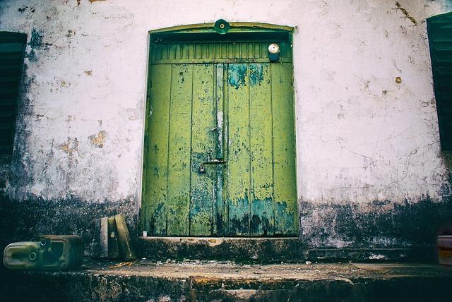 Door, Former, Bell, Old, Power Plant, Old Door, Crashes