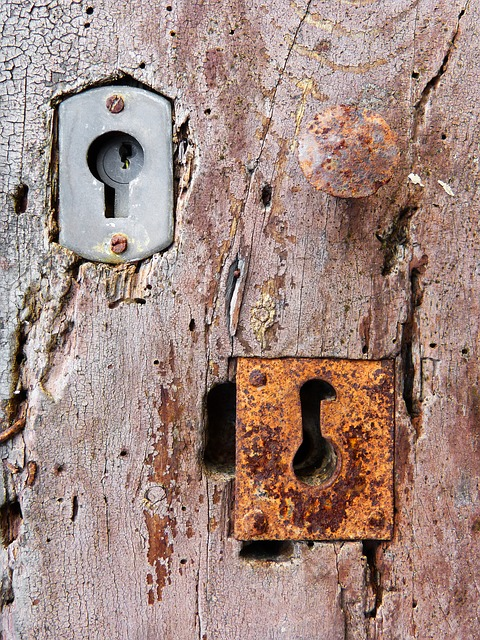 Locks, Door, Old, Wood