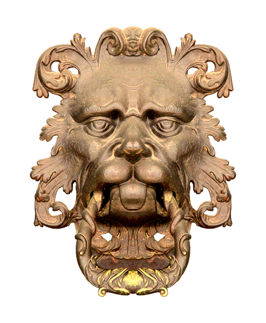 Doorknocker, Lion, Lion Head, Old, Input, Door, Metal