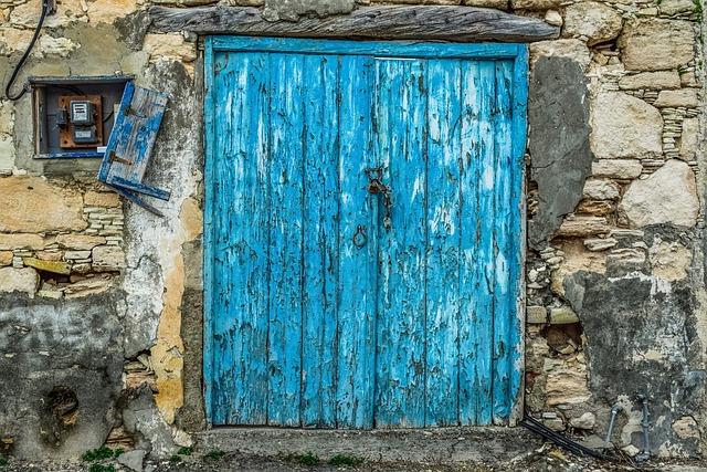 Door, Old, Wooden, Wall, Entrance, Doorway