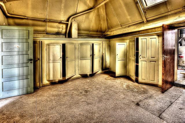 Cabinets, Doors, Hdr, Monastery, Expired, Old