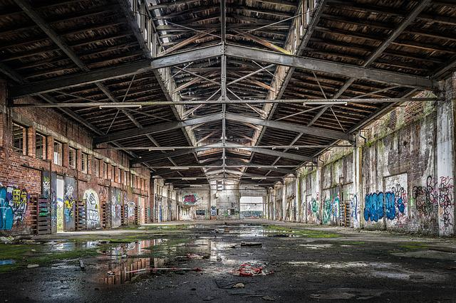 Hall, Stock, Lost Places, Old Factory Hall, Broken