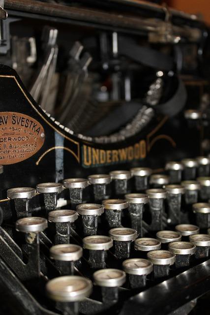 Typewriter, Letter, Font, Old, Underwood, Vintage, Iron