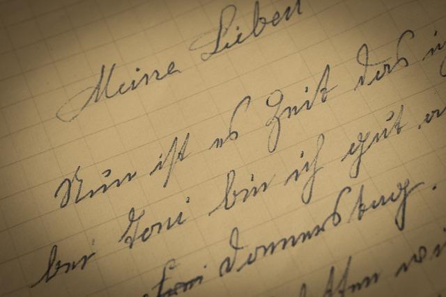 Letters, Sütterlin, Old German, 1947, Handwriting