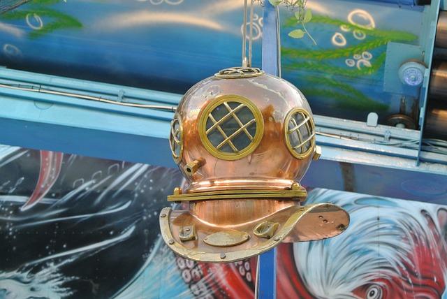 Diver, Helmet, Old, Copper, Deep Sea