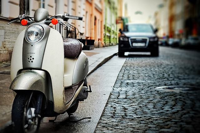 Scooter, Motorcycle, Honda, Vespa, Car, Old, Drive Unit