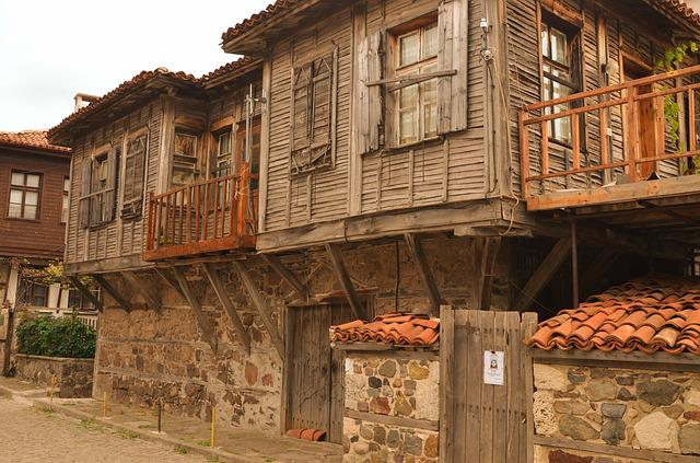 Bulgaria, Sozopol, City, Street, Old House