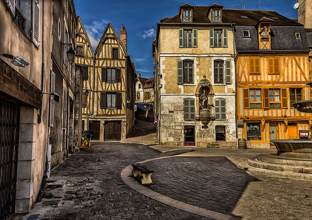 Auxerre, City, Urban, Old Town, Old Houses