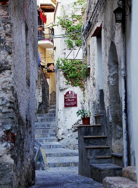 Narrow Lane, Old Houses, Village, Borgo, Alley