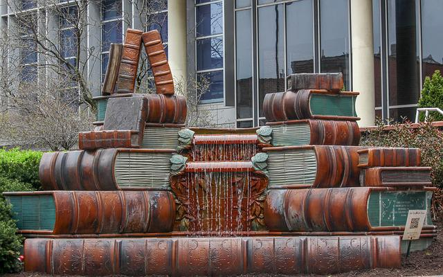 Old, Vintage Statue, Library, Books