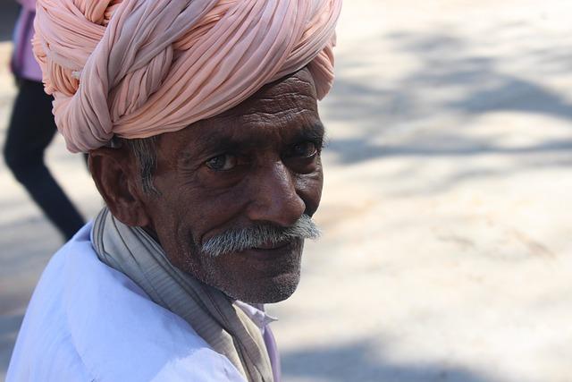 Old Man, Turban, Folk, Traditional, India, Culture