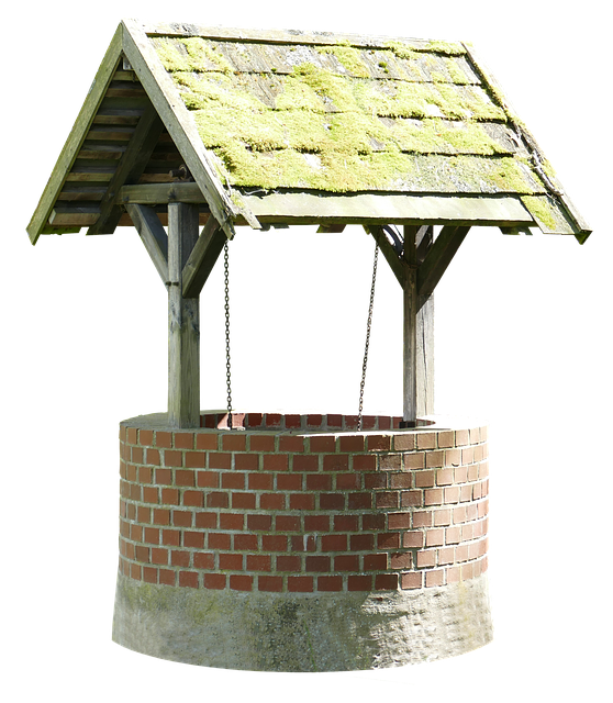 Fountain, Old, Middle Ages, Old Well, Stone, Wood