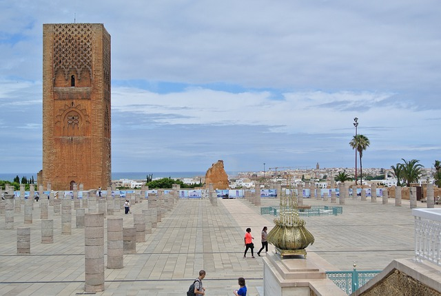 Mosque, Rabat, Unfinished, Ruins, Ancient, Old