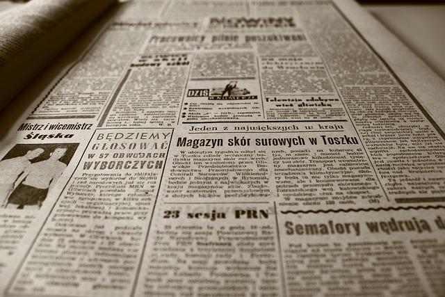 Old Newspaper, Newspaper, Retro, Sepia, Old