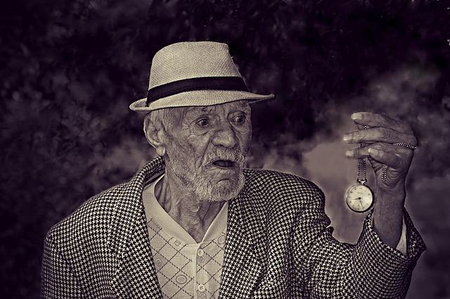Old, Man, Time, Watch, Fear, Old Age