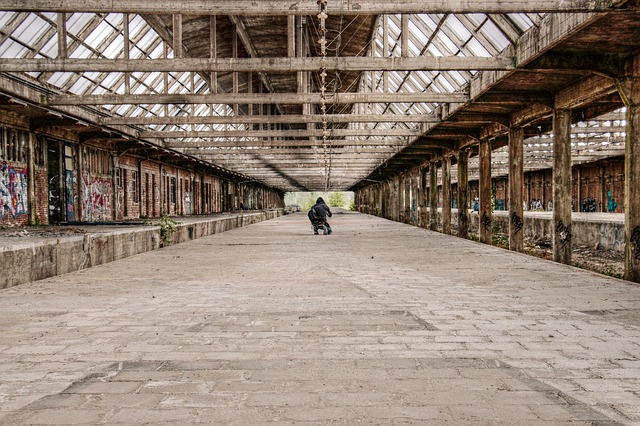 Lost Place, Concourse, Old, Old Station Hall, Graffiti