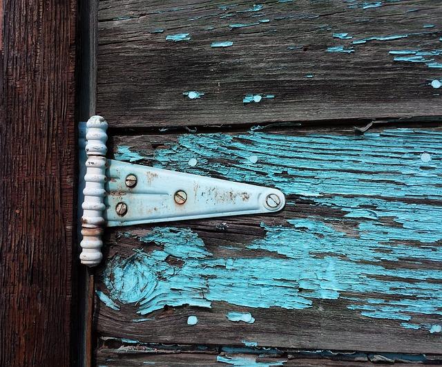 Old Barn Hinge, Old Door, Old Paint, Peeling Paint