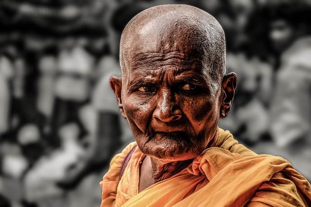 Monk, Path, Buddhist, Old, Religion, Temple, Prayer