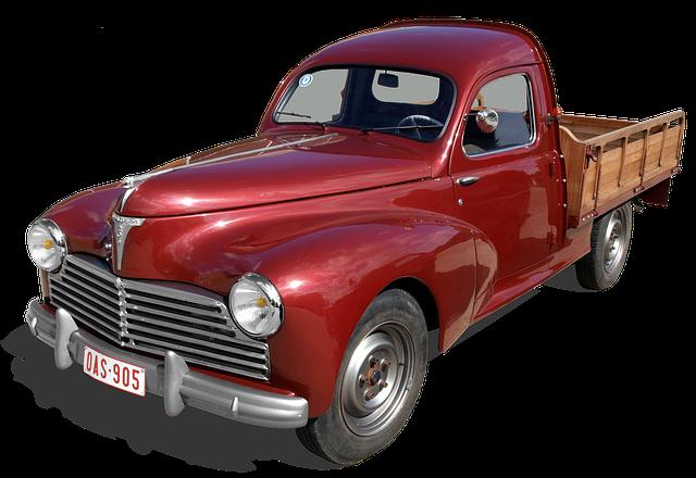 Peugeot 203, Truck, Pick-up, Old, Transport