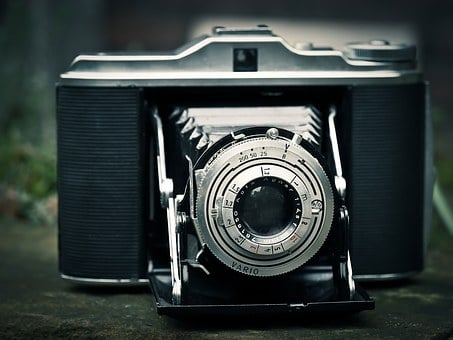 Photo Camera, Camera, Agfa Isolette, Photograph, Old