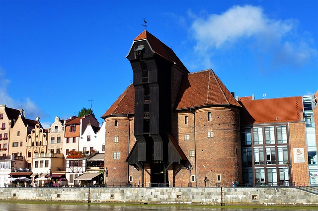 Architecture, Poland, Gdansk, Crane, Medieval, Old