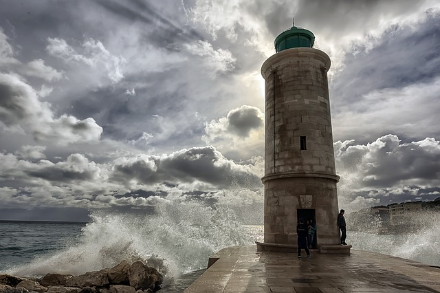 Marseille, Sea, Waves, Lighthouse, Old Port, Port