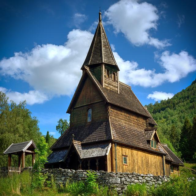 Stave Church, Old, Architecture, Religion, Building