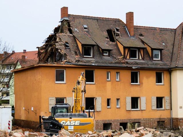 Architecture, Building, Home, Crash, Old, Renewal