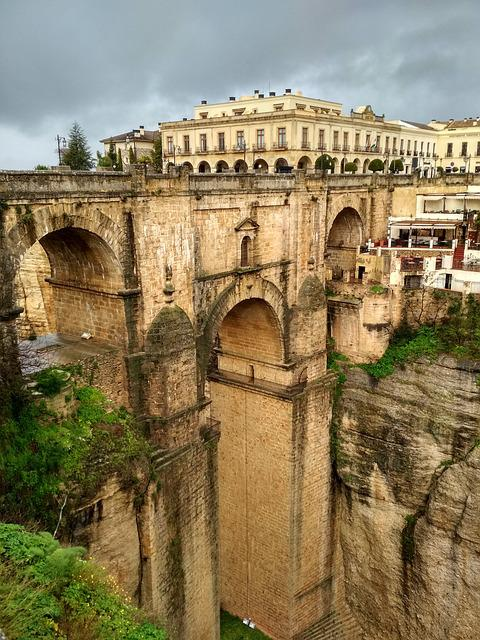 Round, Architecture, Bridge, Old, Malaga Travel