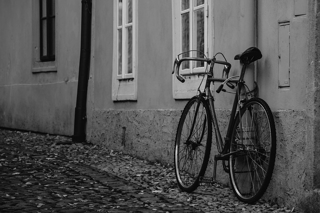 Old, Round, B W Photography, Bicycle
