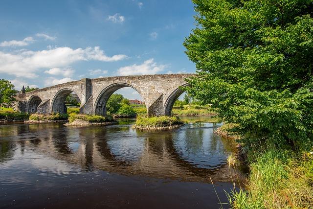 Stirling Bridge, Stirling, Bridge, Scotland, Old, River
