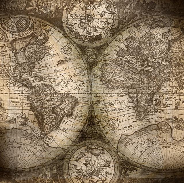 Background, Atlas, Folder, Old, Vintage, Grunge, Sea