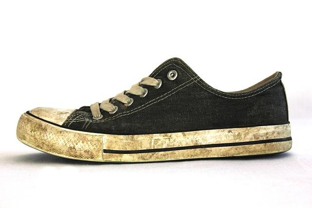 Shoe, Old, Old Shoes, Used, Broken, Shoelace, Hiking