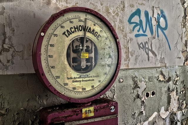 Horizontal, Speedometer Scale, Weigh, Old, Weigh Out