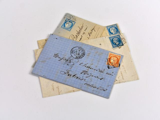Old Letters, Mail, Old Stamps, Philately, Collection