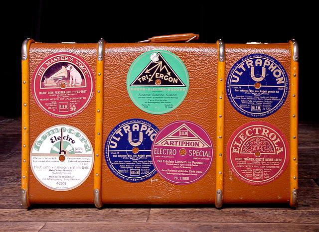Luggage, Sticker, Old Suitcase, Shellac, 78rpm