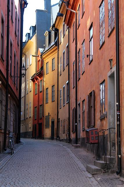 Alley, Homes, Facade, Old Town, Old Building